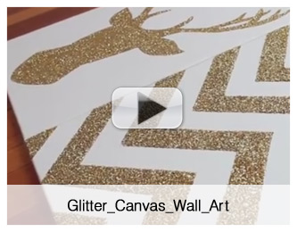 glitter canvas wall art