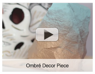 ombre decor piece